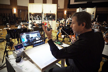 Johannes Vogel conducting for Pacific Rim 2: Uprising.
