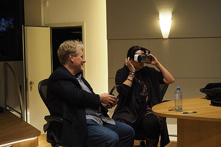 Alejandra Quesada & Pete Anthony with VR